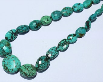 8 Inch Strand 5-6mm size aprx,Great Value Item AAA Arizona Turquoise Faceted RONDELLS