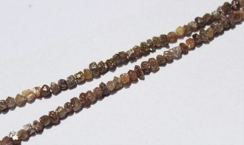 Raw Diamond Chips Uncut Diamonds Bead Size 2.8 to 4.2 mm Approx Brown Diamonds 15 Inch Full Strand Brown Diamonds Natural Rough Diamonds