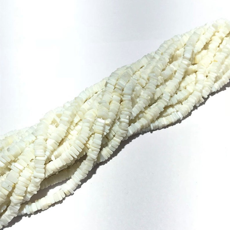 White Opal Heishi Beads,Natural White Opal Smooth Plain Heishi Square Beads,Natural White Opal Heishi Beads,Size 4.5mm to 5mm 16 Inch Strand