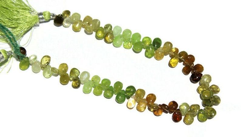 Grossular Garnet Pear Beads,Natural Grossular Garnet Smooth Plain Pear Briolettes Beads,Natural Grossular Garnet Pear Beads,Size 6mm to 7mm