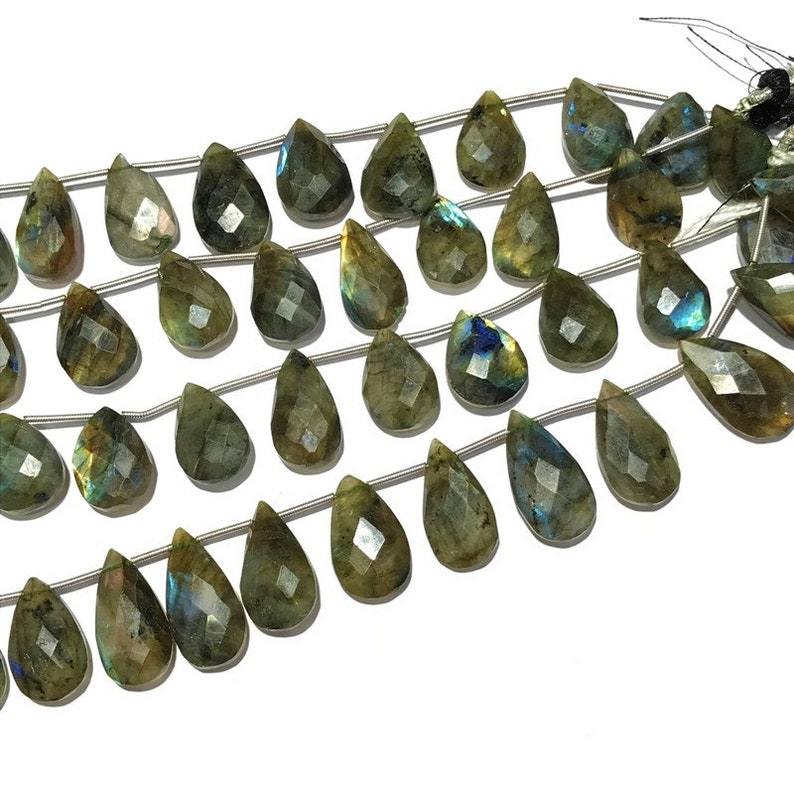 Multi Fire AAA quality Big Size Natural Labradorite Faceted Almond Beads Natural Size 20 to 23 mm 10 Labradorite Faceted beads
