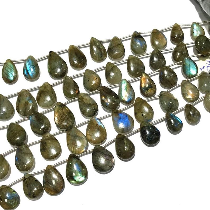 8 Labradorite Plain beads Multi Fire AAA quality Size 10 to 19 mm Natural Gemstone 50/% OFF Natural Labradorite Plain Almond Beads