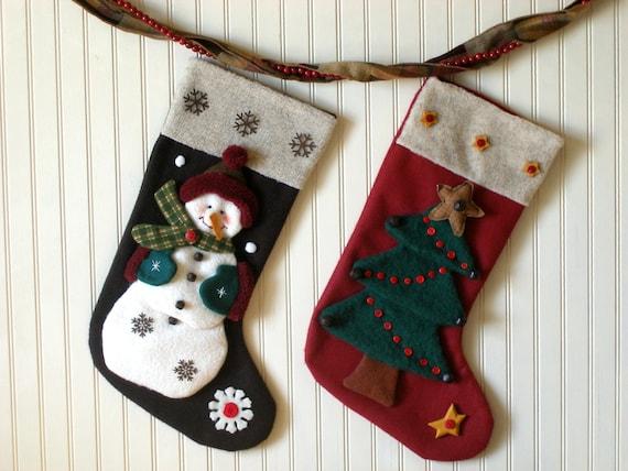 Weihnachts-Strumpf Muster Schneemann Strumpf Weihnachtsbaum | Etsy