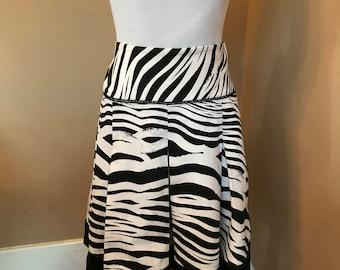 8dd8e5f75 Vintage WORTHINGTON ZEBRA PRINT Pleated Lined Skirt Size 8