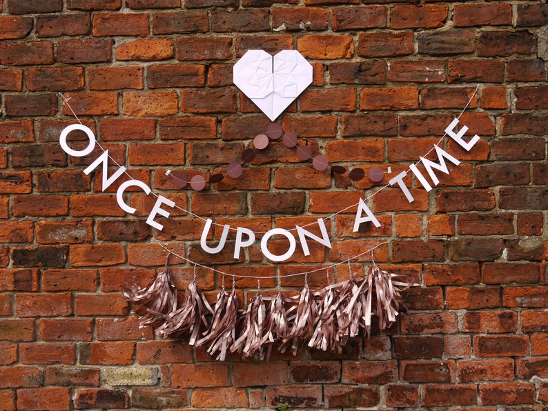 Once Upon A Time Diy Bride Fairytale Wedding Decorations Etsy