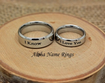 Laser Engraved Star Wars I Love You I Know With Hearts And Date Natural Finish Ring Bearer Box