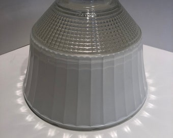 8858276f90b1be Stiffel White and Clear Glass Diffuser Shade