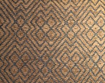 Brown & Bronze Chenille Fabric