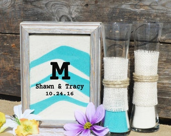 Personalized Rustic Barn Wood Wedding Sand Ceremony Frame Set Etsy