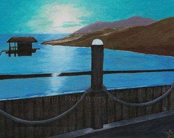 Aqua Reflections - Acrylic Painting, Original Acrylic Art, Acrylic on Canvas, Wall Art