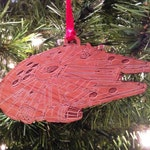 Star Wars Millenium Falcon Wooden Ornament