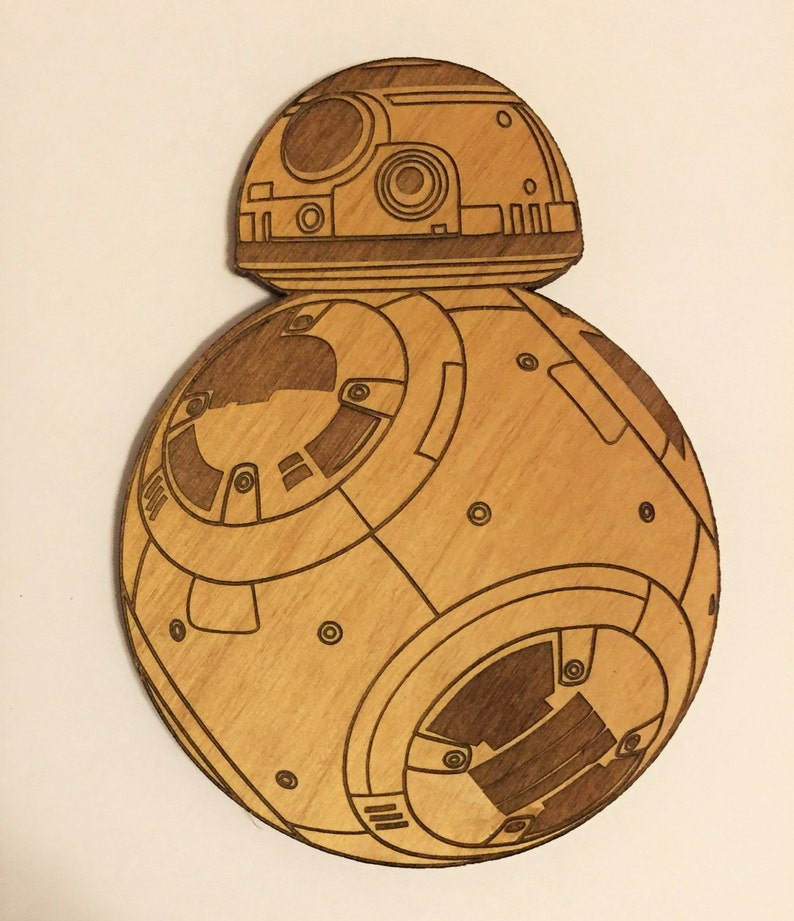 Star Wars BB-8 Droid Wooden Fridge Magnet image 0