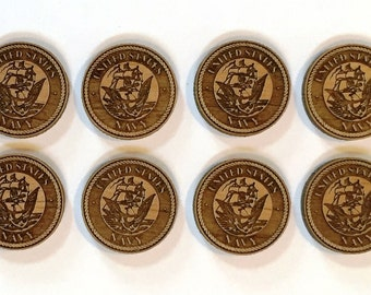 Laser Cut US Navy Charms - 8 Pieces