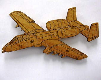 A-10 Warthog Wooden Fridge Magnet