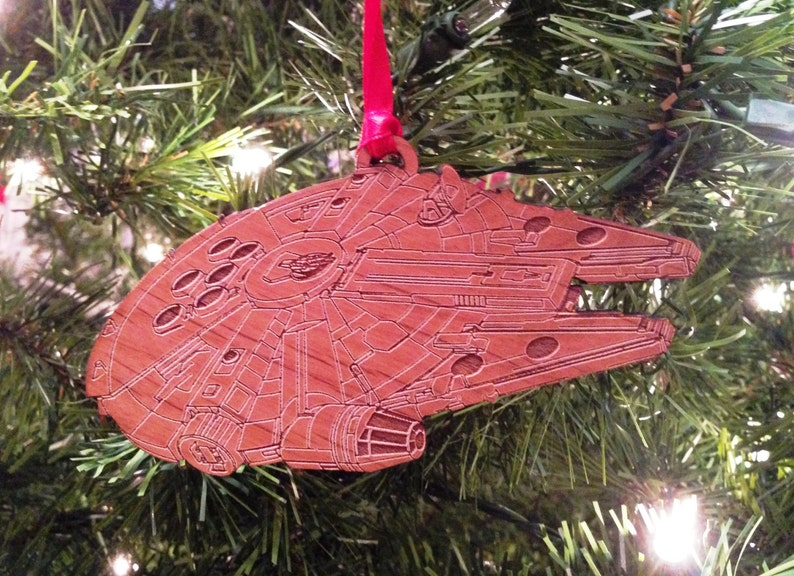 Star Wars Millenium Falcon Wooden Ornament image 0