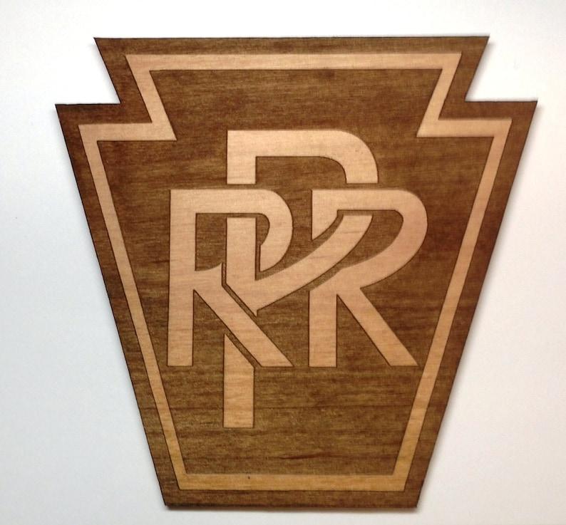 Pennsylvania Railroad Logo Wooden Fridge Magnet image 0