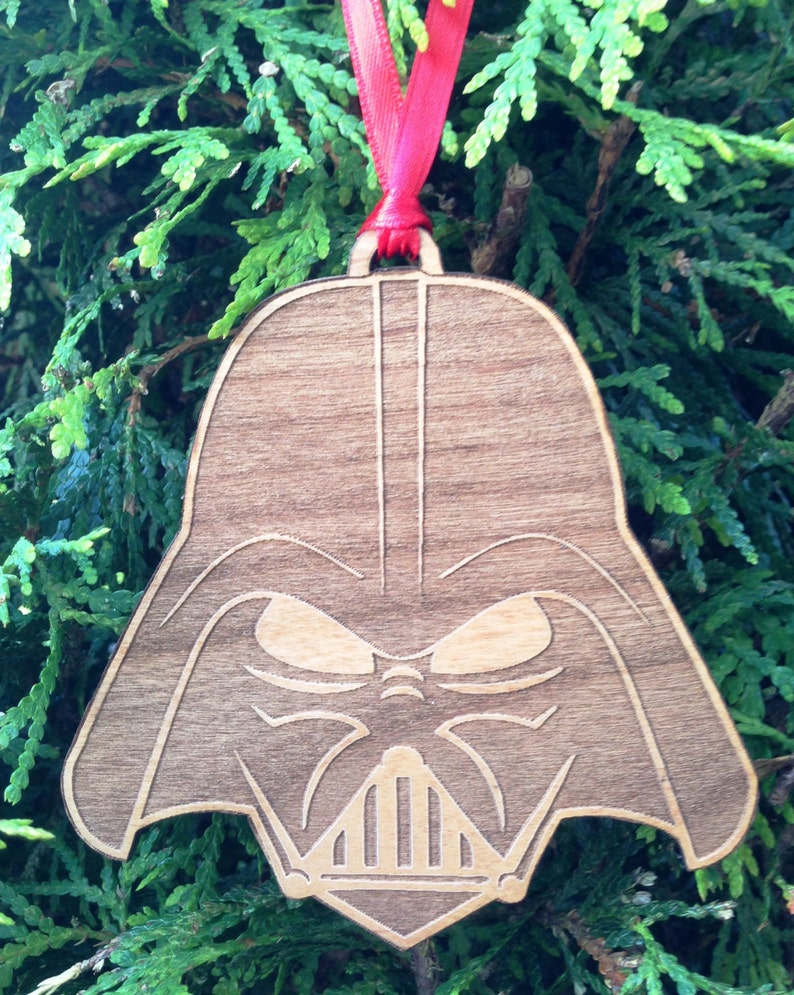 Star Wars Darth Vader Stylized Wooden Ornament image 0