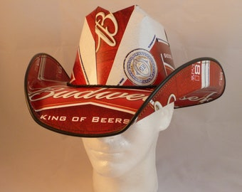 Made from recycled A/&W Root Beer boxes. Cola Box Cowboy Hats