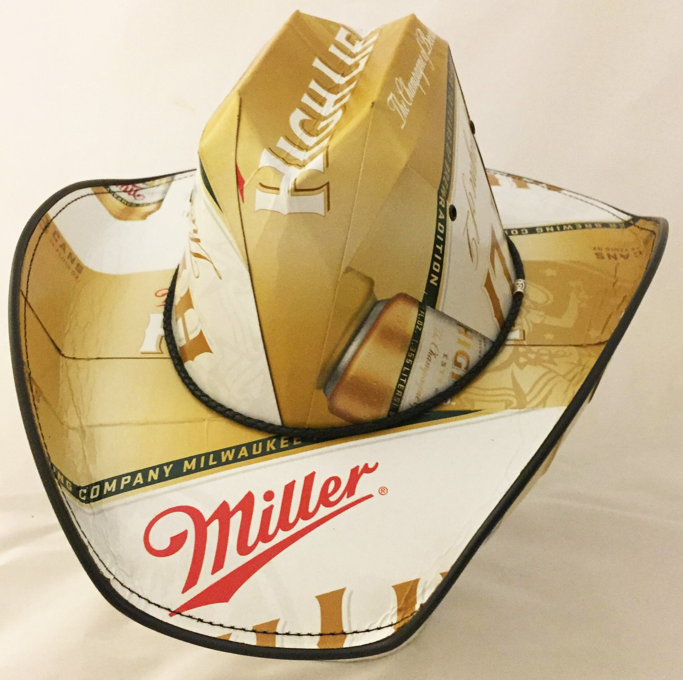 Beer Box Cowboy Hats Beerhat. Made from recycled Icehouse Beer boxes