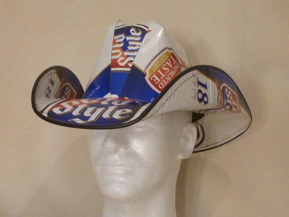 how to make hats out of beer boxes