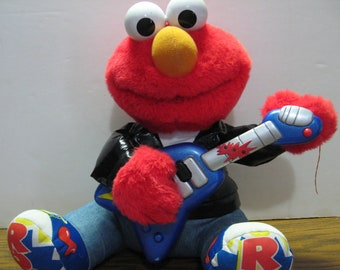 Sesame Street Rock and Roll Tickle Me Elmo Animatronic Electronic Singing Doll 1998 Vintage