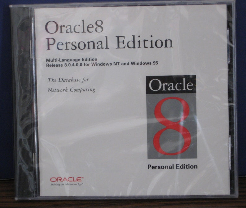 Oracle 8 Relational Network Computing Database System Personal Edition New  - 1998 Vintage