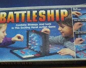 Battleship Naval Combat Tabletop Game - Milton Bradley - 1984 Vintage