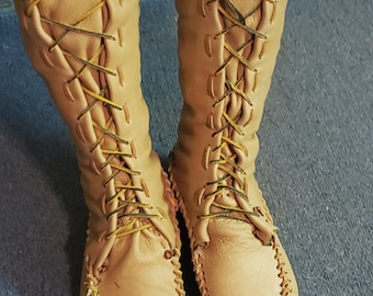 1665c2f65ee Custom made to order knee high moccasins