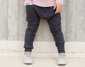 Kids Leggings - Kids Harem Pants  Kids Clothes, Boy Toddler, Toddler Boy Clothes, Toddler Harem Pants - Coal Gray