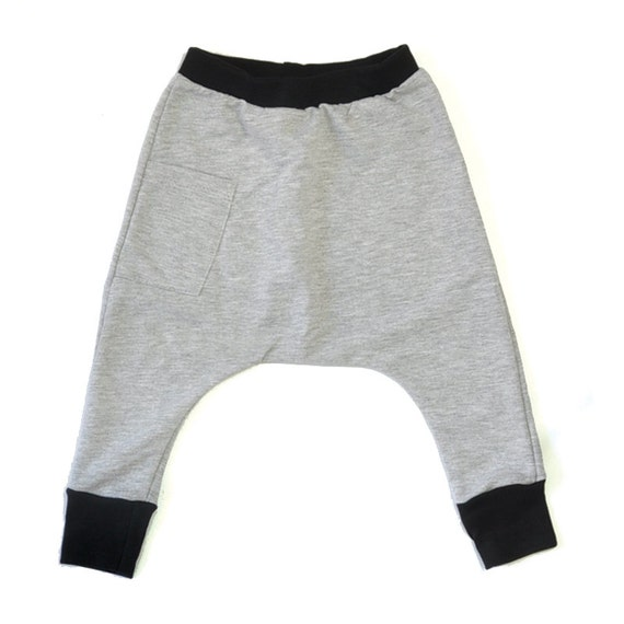 8e8b8f75c3c Baby Harem Pants / Baby Joggers Medium Weight Cotton | Etsy