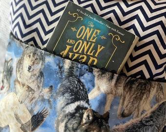 Wolves Pillow, Reading Pillow, Reading Pillow Cover, Pillow Cover, Slipcover, Reading Pillow, Book Pillow, Children's Pillow