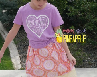 Boutique Outfit, Girls Skirt, Girl Power Shirt, Gifts for Girls, Mother's Day Outfit, Girls Clothing, School Clothes, Girls Outfit, Skirt
