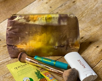 Makeup Bag, Toiletry Bag, Minimalist Bag, Travel Bag, BuJo Bag, Makeup Bag, Zipper Pouch, Tech Accesory Bag, Tie Dye Bag