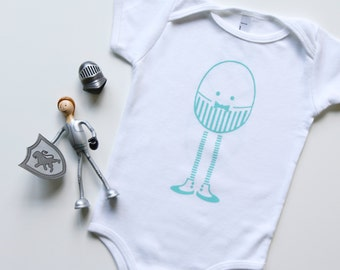 Humpty Dumpty Baby Bodysuit. One Piece. Baby Clothing. Hand Screen Printed. 100% Cotton. Design Available in a Dozen Colors.