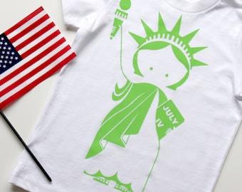Baby Girls Kids Statue of Liberty Printed Long Sleeve 100/% Cotton Infants Tee Shirt