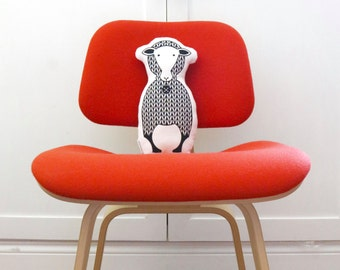 Sheep Soft Toy. Animal Pillow. Soft Toy. Hand Screen Printed. 100% cotton. Design Available in a Dozen Colors.