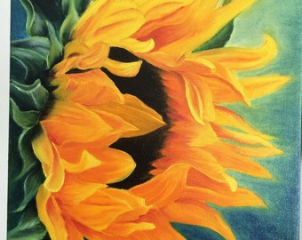 "Art greeting cards ""Amazing Sunflower"""