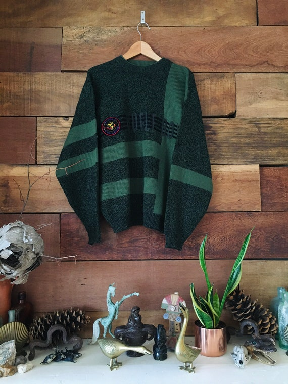 Vintage Bugle Boy Sweater - Spell Out - Acrylic