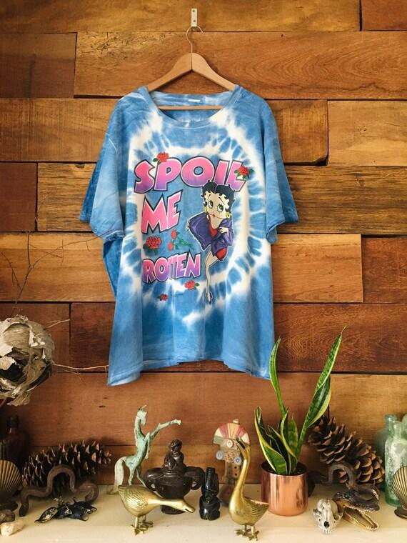 Vintage Betty Boop Shirt - Spoil Me Rotten - Tie D