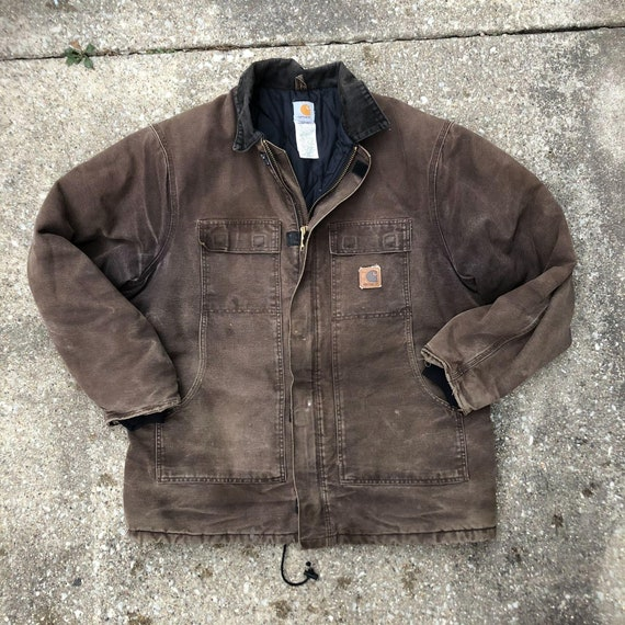 Vintage Carhartt Jacket Faded Distressed