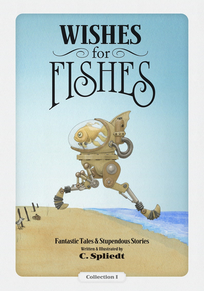 Children's Book Wishes For Fishes written and illustrated image 0