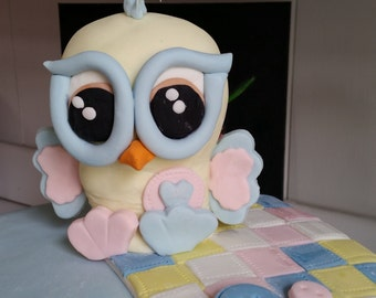 Hoo Hoo! Baby Owl Cake Topper