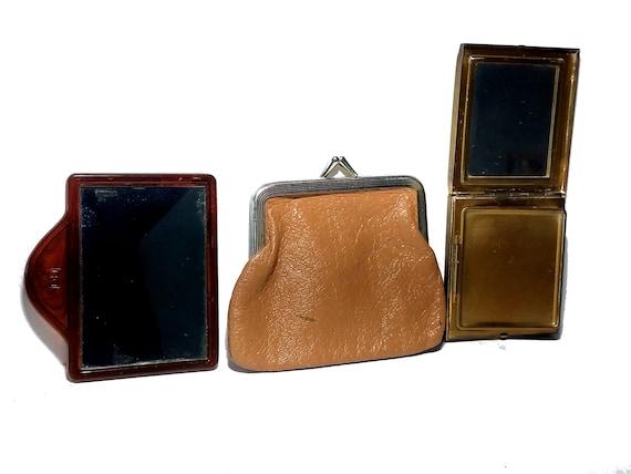 Vintage Purse Accessory Lot Retro 50s Style Mirror
