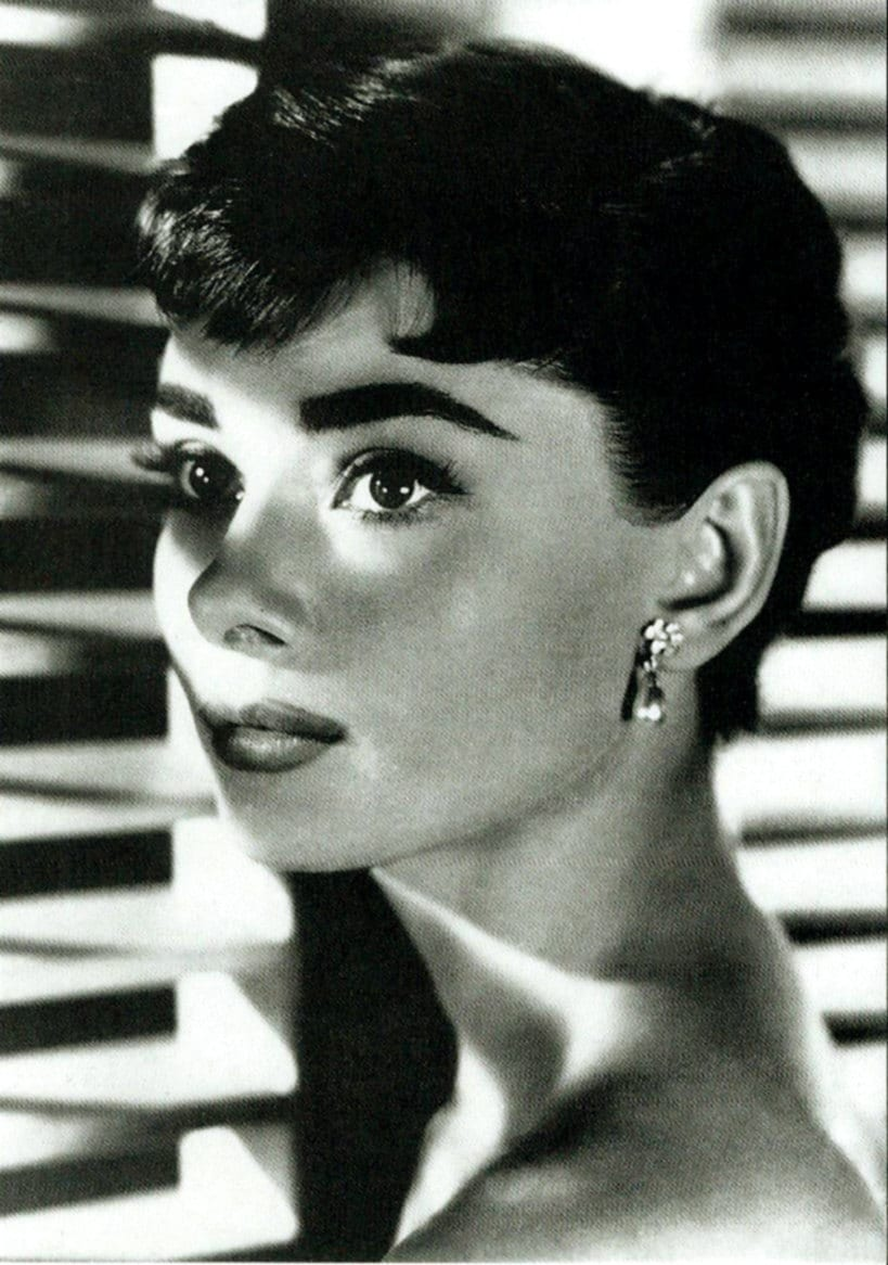 audrey hepburn poster small poster etsy. Black Bedroom Furniture Sets. Home Design Ideas