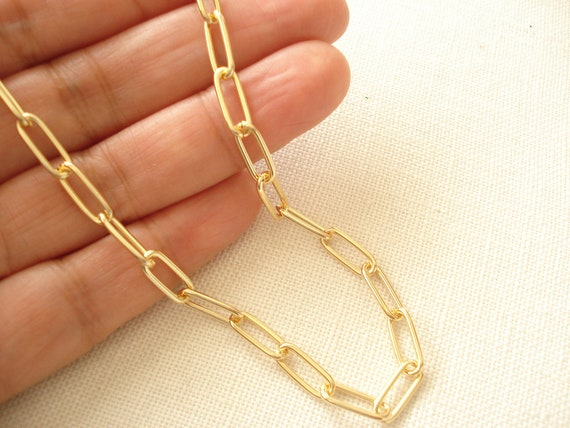 Chunky Gold Chain OR Necklace With or Without Toggle 11mm X 8mm Cable w Matte Finish Layering 16 18,24or 30 Heavy Link High End