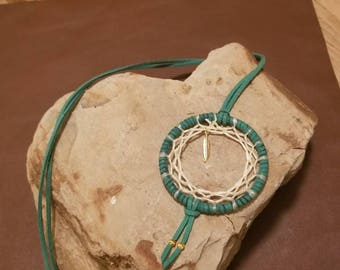 Items similar to Bead dream catcher pendant necklace. on Etsy