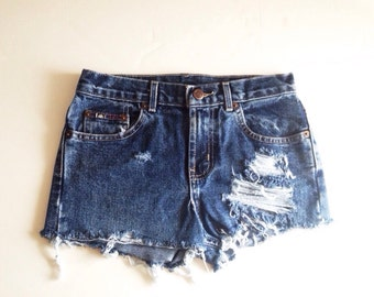 36483221d43c8 Women s lei distressed high waisted shorts size 24
