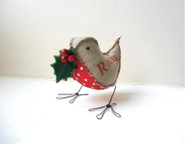 Robin Bird Soft Sculpture Handmade Christmas Ornament Gift Etsy