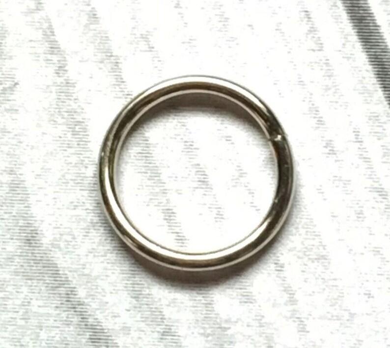 Solid 14k Palladium White Gold Nose Ring 16g 18g 20g 22g Etsy