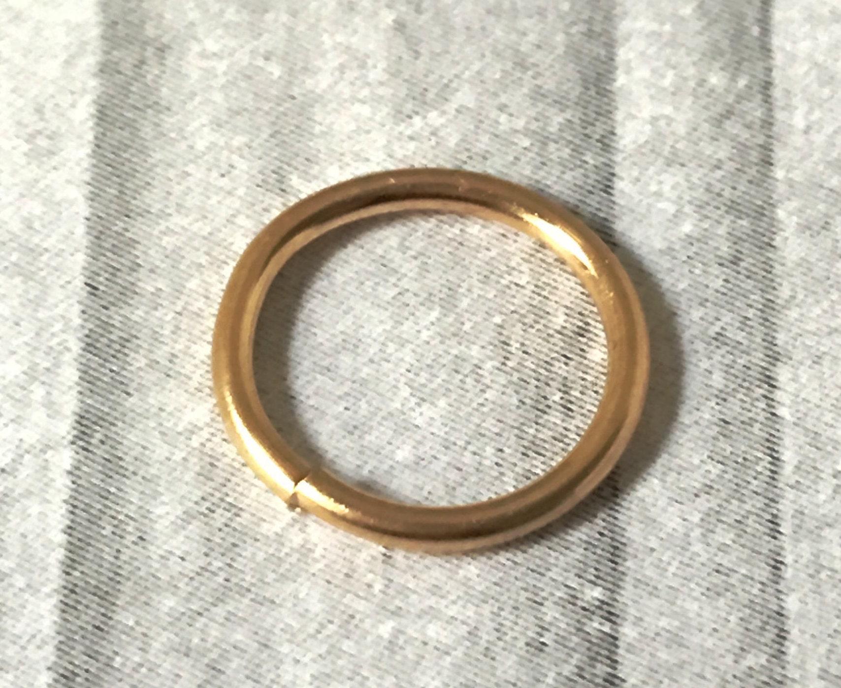 10k Gold Nose Ring Septum Ring 16g 18g 20g 22g Cartilage Etsy